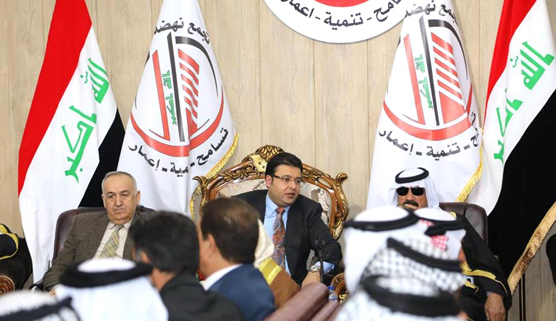 إجتماع شيوخ العشائر من كافة أنحاء العراق مع أكرم العساف  في مقر حزب تجمع نهضة جيل