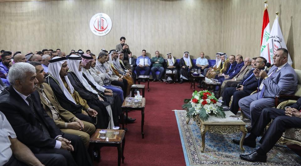 السيد خضير الخُزاعي والسيد محمد العيساوي يلتقيان عددا من شيوخ ووجهاء قبيلة البو عيسى